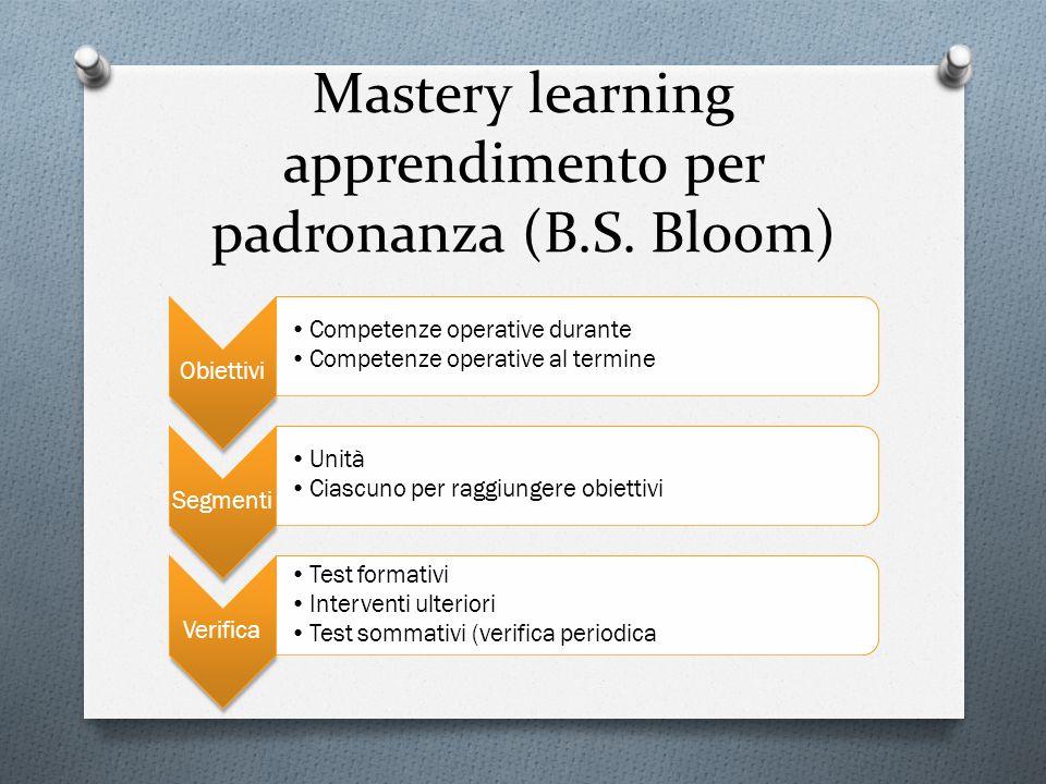 Mastery learning apprendimento per padronanza (B.S. Bloom)