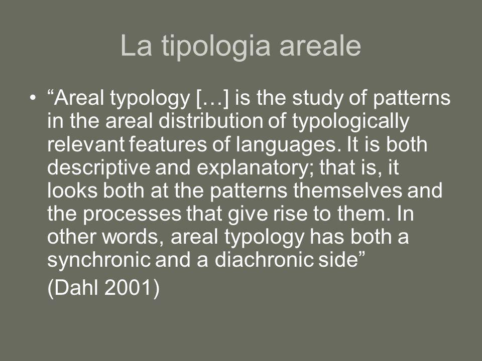 La tipologia areale