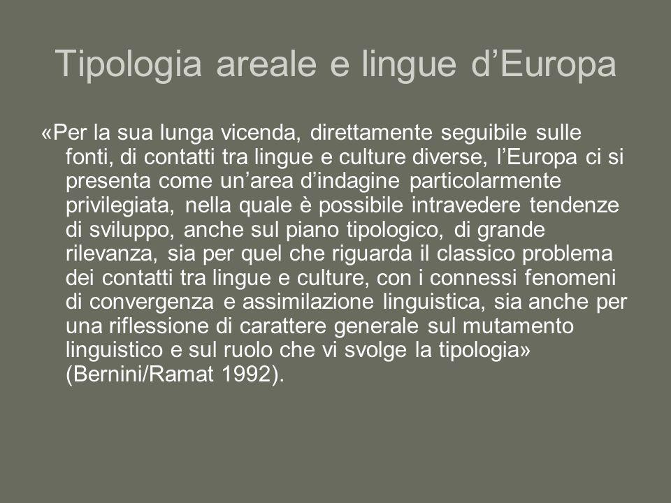 Tipologia areale e lingue d'Europa