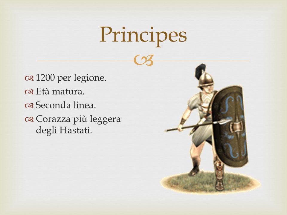 Principes 1200 per legione. Età matura. Seconda linea.