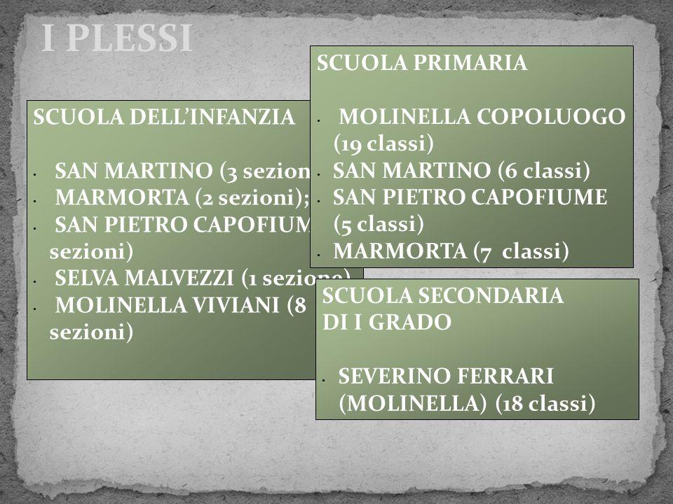 I PLESSI SCUOLA PRIMARIA MOLINELLA COPOLUOGO (19 classi)