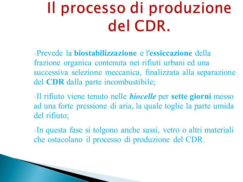 Il processo di produzione del CDR.