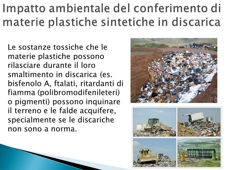 Impatto ambientale del conferimento di materie plastiche sintetiche in discarica