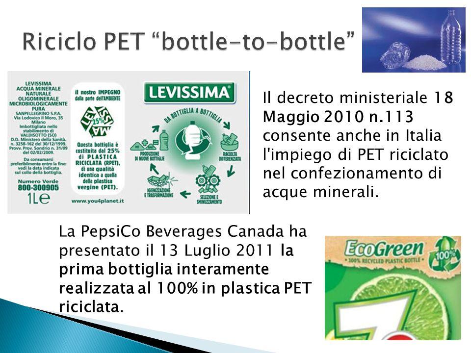 Riciclo PET bottle-to-bottle