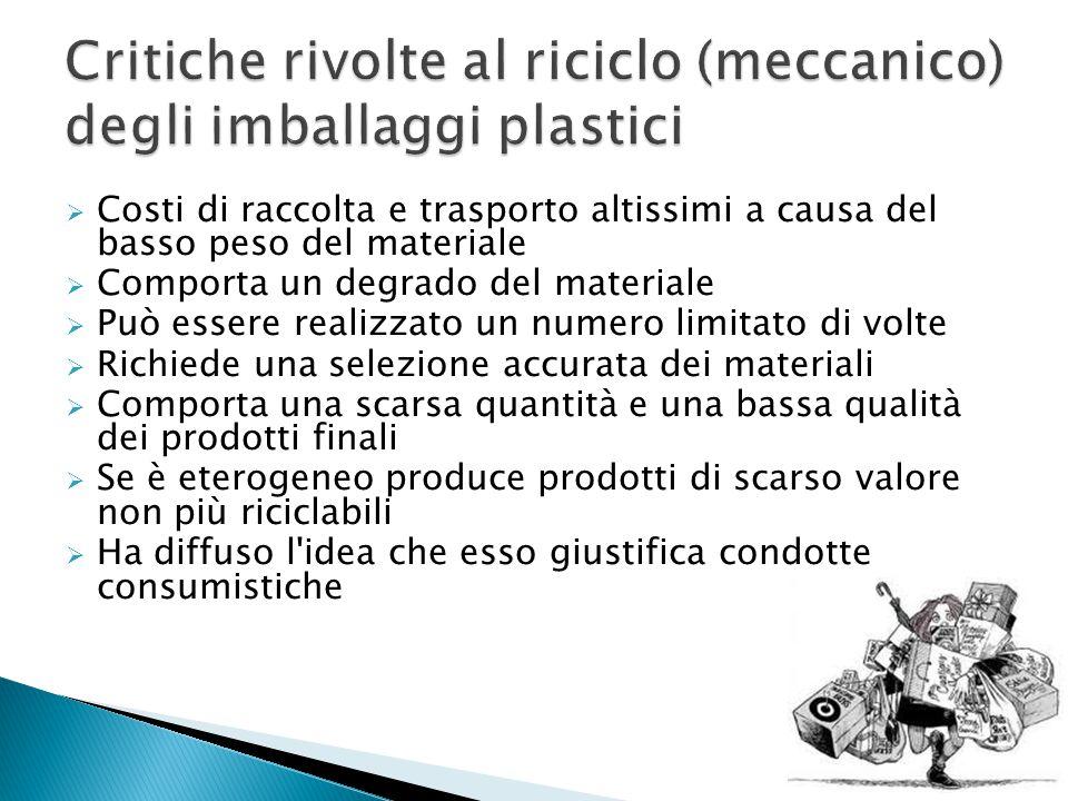 Critiche rivolte al riciclo (meccanico) degli imballaggi plastici