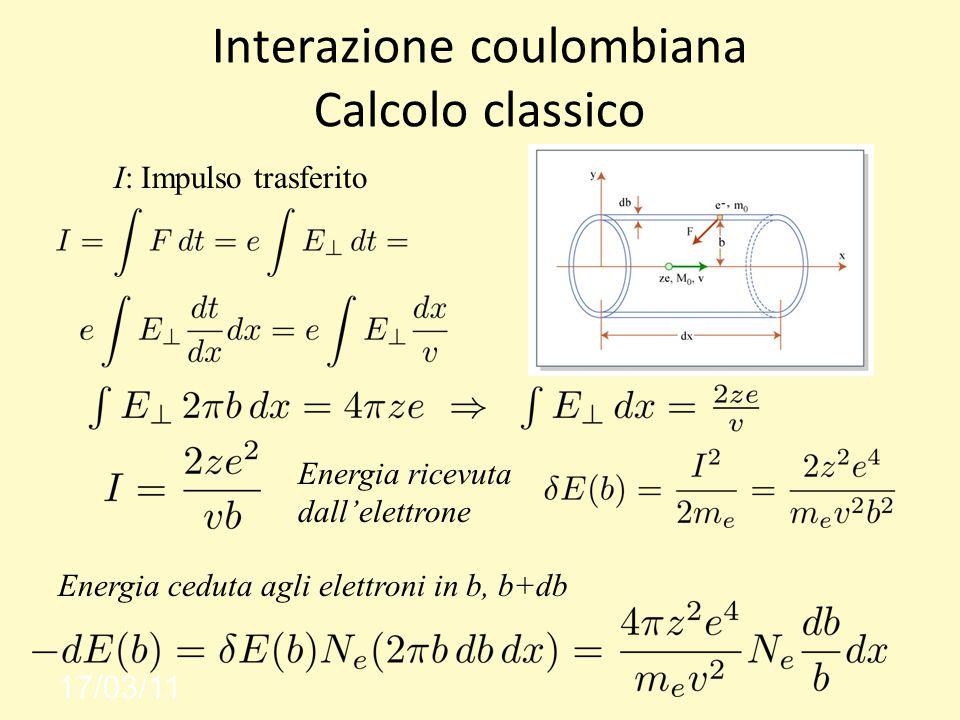 Interazione coulombiana Calcolo classico