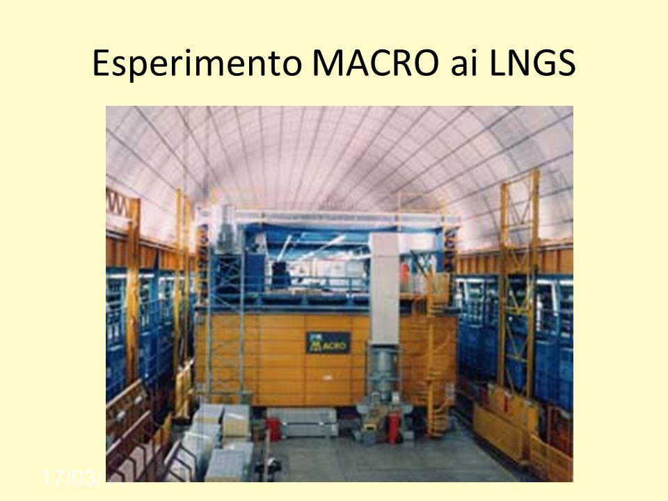 Esperimento MACRO ai LNGS