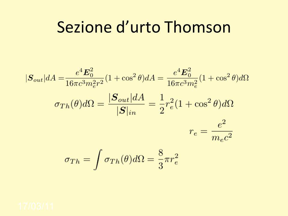 Sezione d'urto Thomson