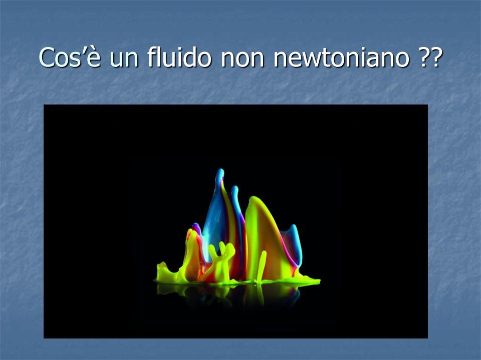 Cos'è un fluido non newtoniano
