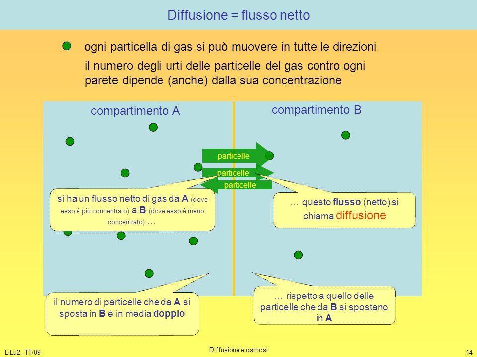Diffusione = flusso netto