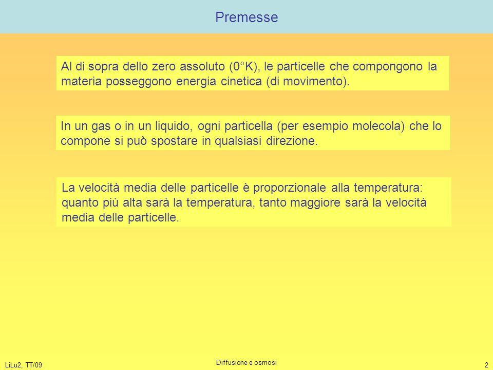 Premesse Al di sopra dello zero assoluto (0°K), le particelle che compongono la materia posseggono energia cinetica (di movimento).