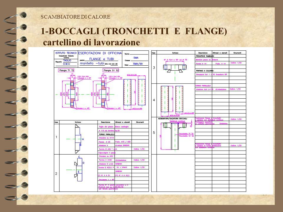 1-BOCCAGLI (TRONCHETTI E FLANGE) cartellino di lavorazione
