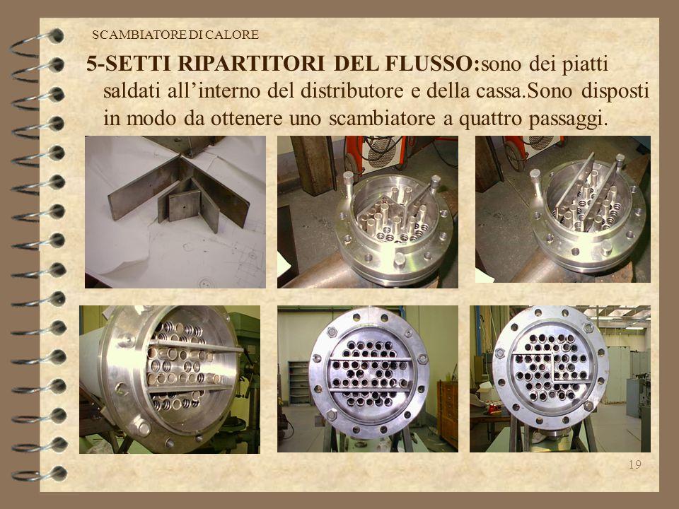 5-SETTI RIPARTITORI DEL FLUSSO:sono dei piatti