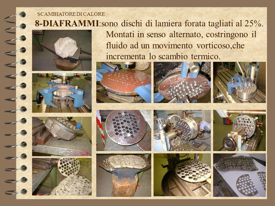 8-DIAFRAMMI:sono dischi di lamiera forata tagliati al 25%.