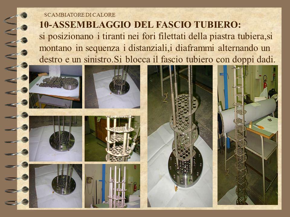 10-ASSEMBLAGGIO DEL FASCIO TUBIERO: