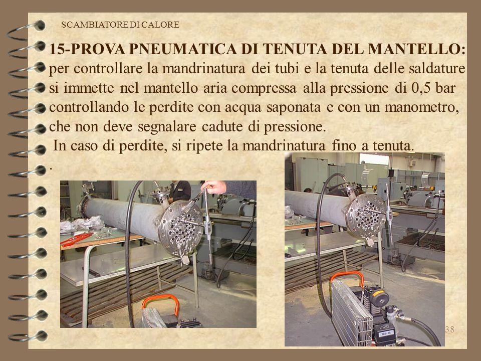 15-PROVA PNEUMATICA DI TENUTA DEL MANTELLO: