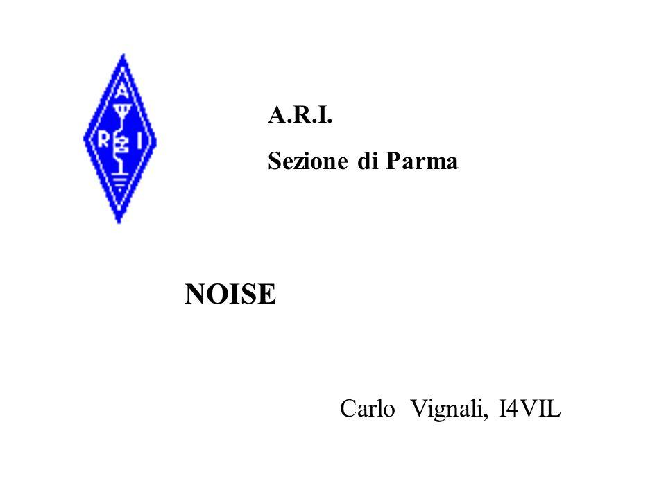 A.R.I. Sezione di Parma NOISE Carlo Vignali, I4VIL
