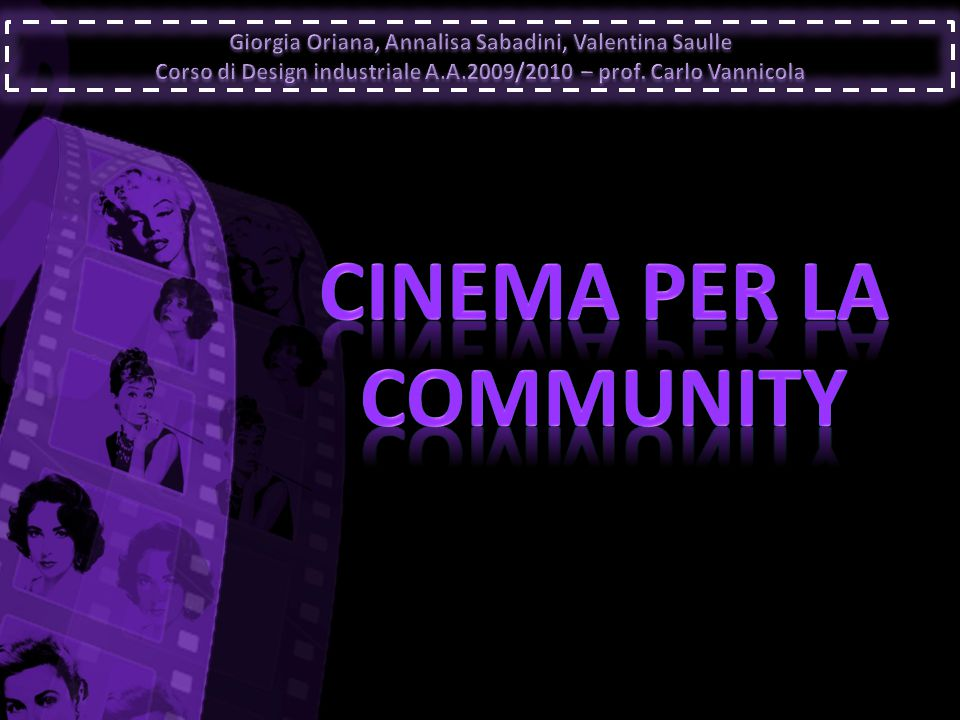 CINEMA PER LA COMMUNITY