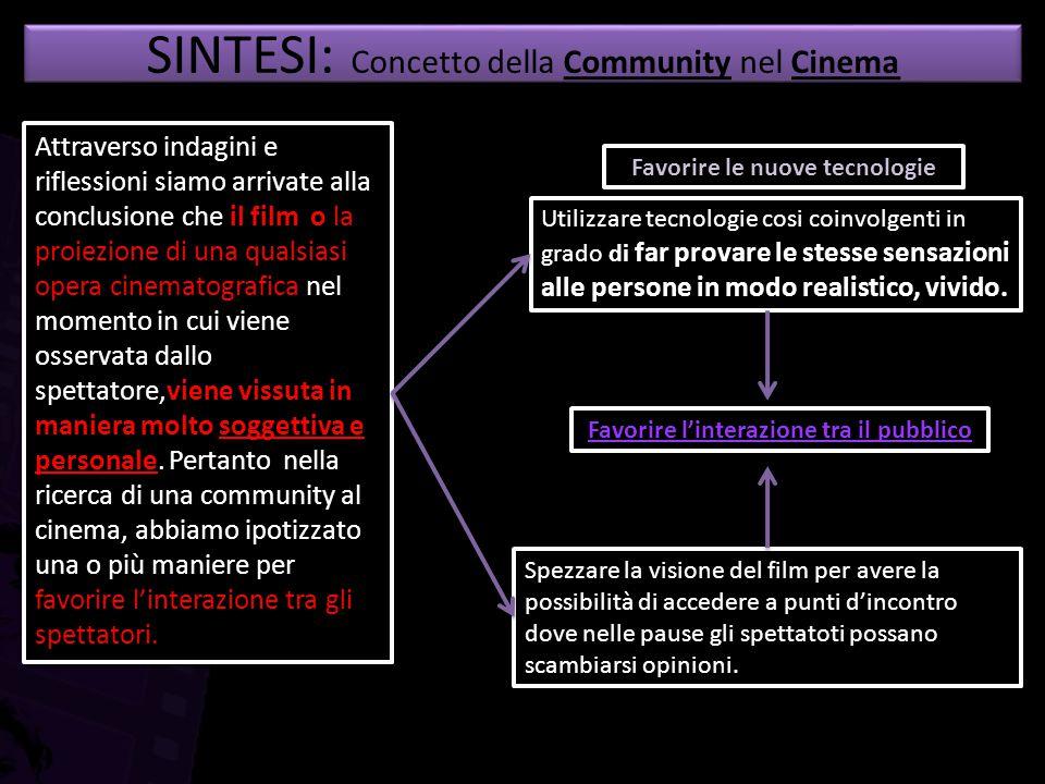 SINTESI: Concetto della Community nel Cinema