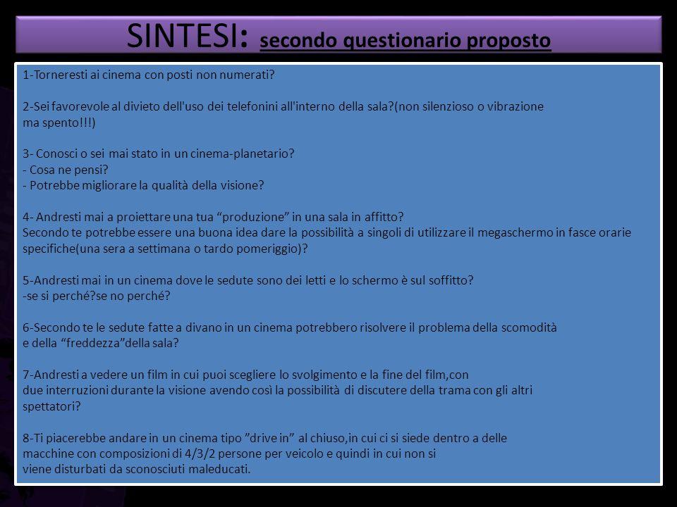 SINTESI: secondo questionario proposto