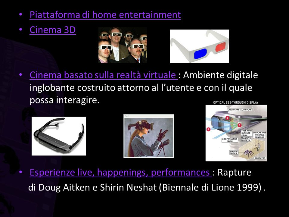 Piattaforma di home entertainment