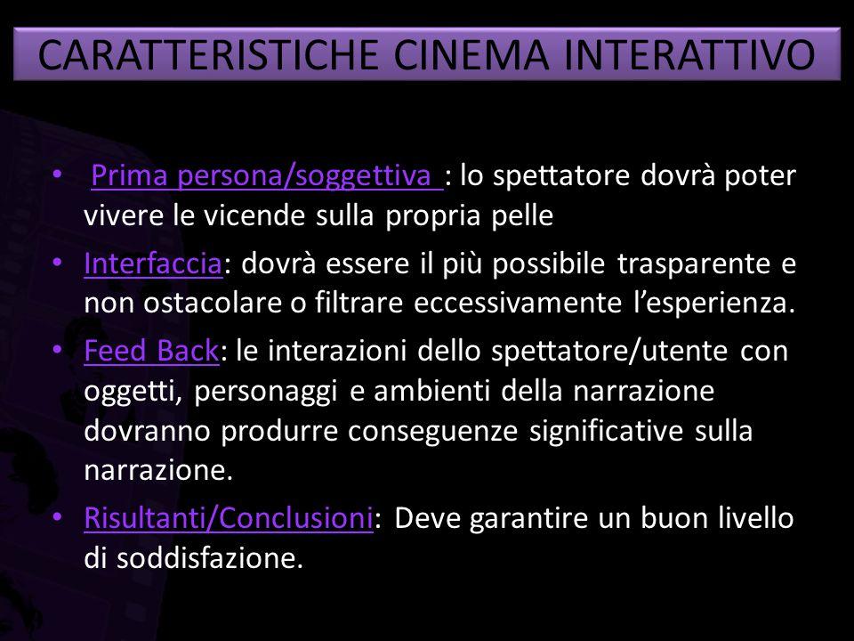 CARATTERISTICHE CINEMA INTERATTIVO