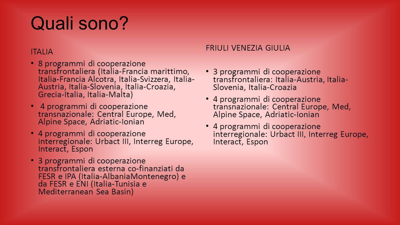 Quali sono ITALIA FRIULI VENEZIA GIULIA