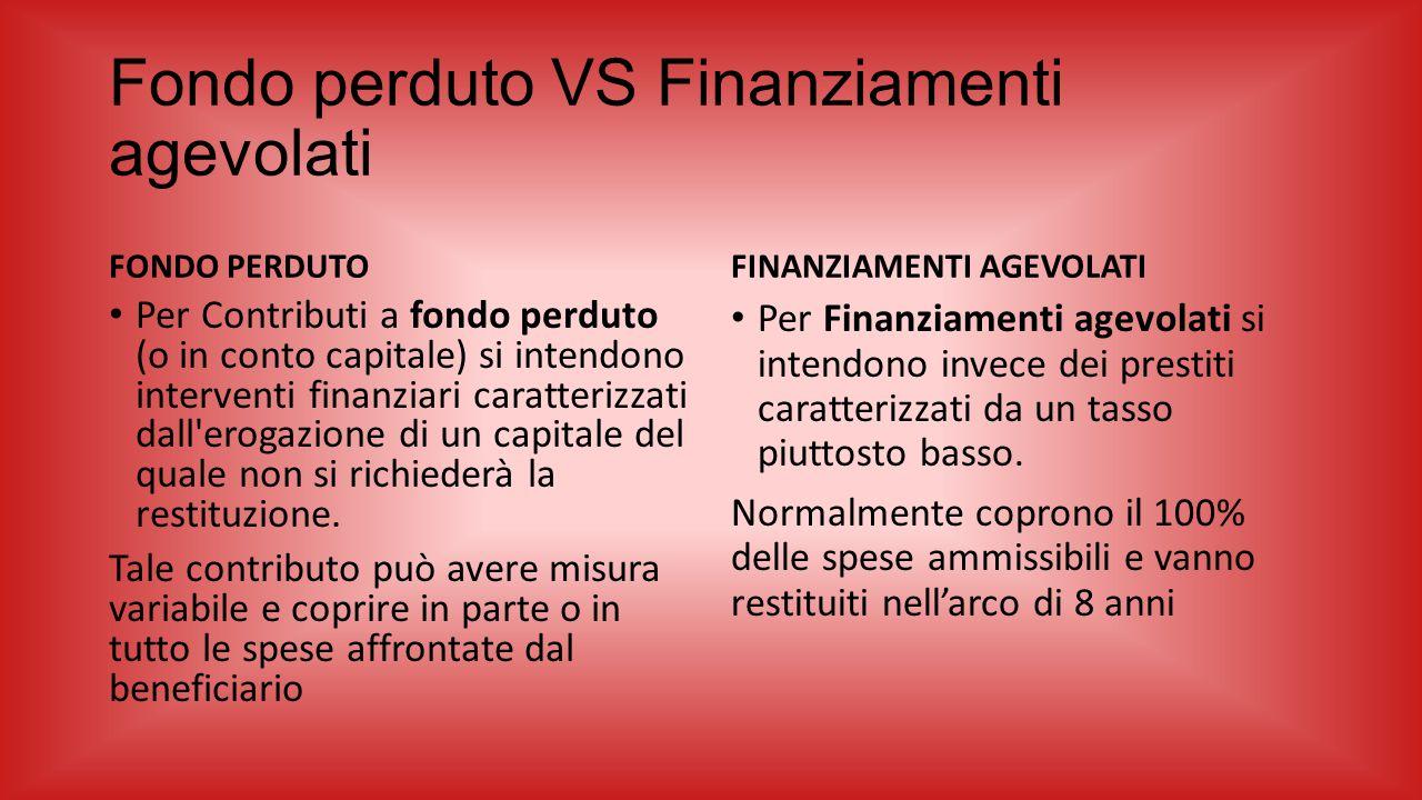 Fondo perduto VS Finanziamenti agevolati