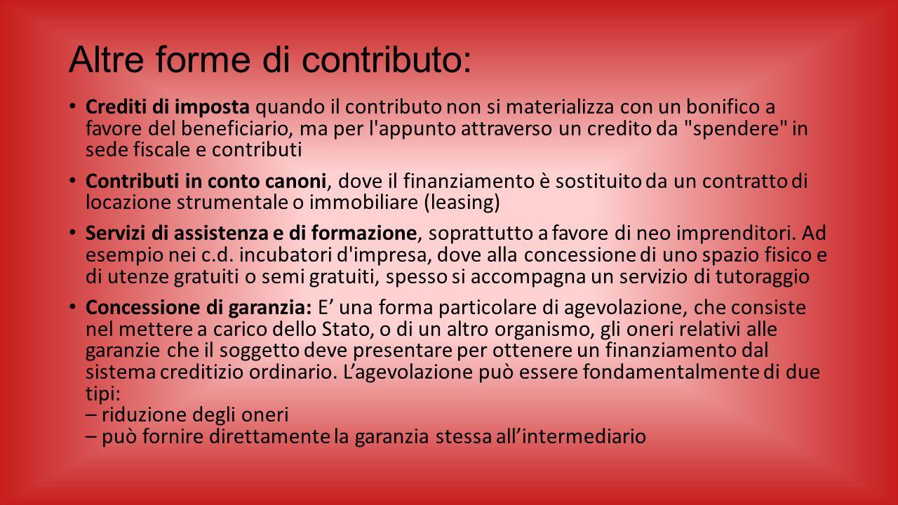 Altre forme di contributo: