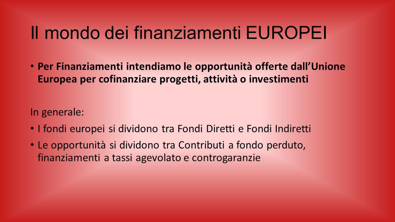 Il mondo dei finanziamenti EUROPEI