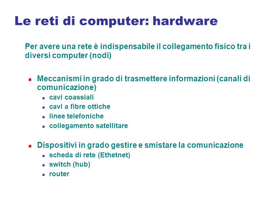 Le reti di computer: hardware