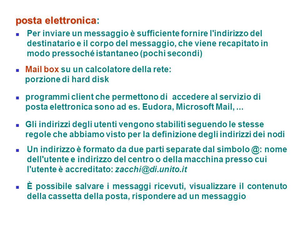 posta elettronica: