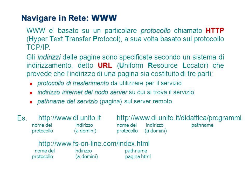 Navigare in Rete: WWW