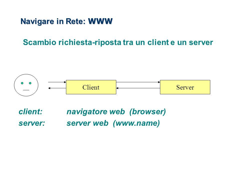 Scambio richiesta-riposta tra un client e un server