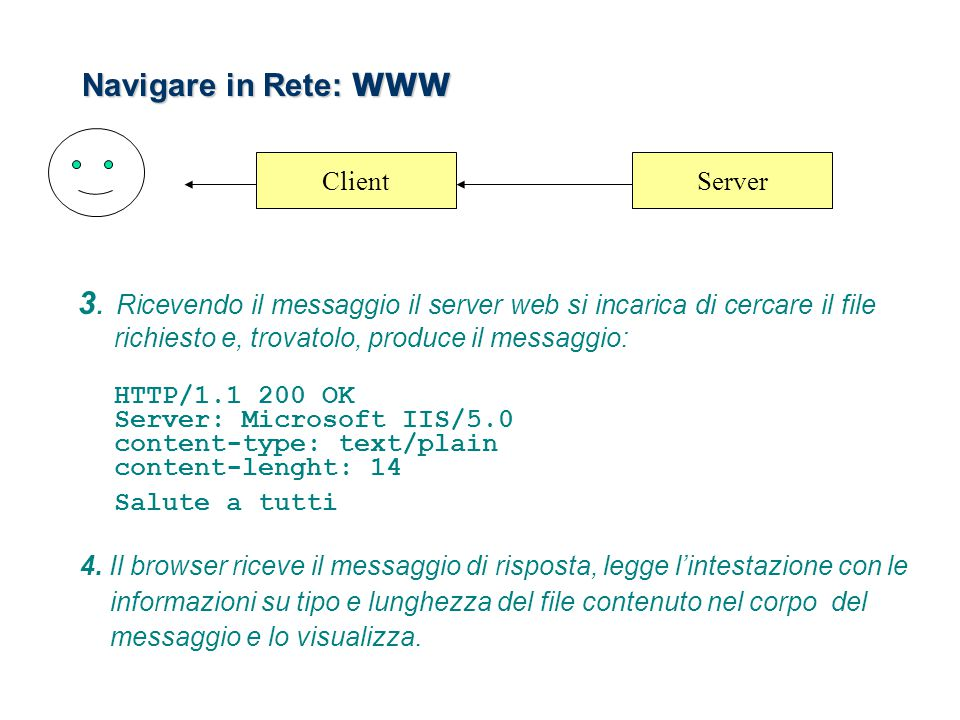 Navigare in Rete: WWW Client. Server.