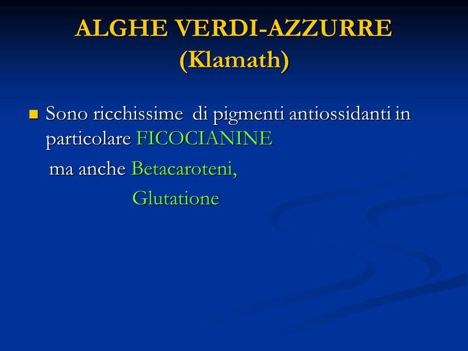 ALGHE VERDI-AZZURRE (Klamath)