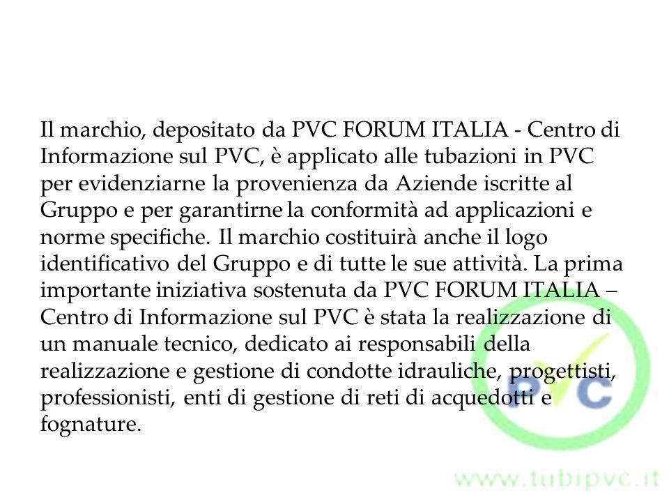 Il marchio, depositato da PVC FORUM ITALIA - Centro di
