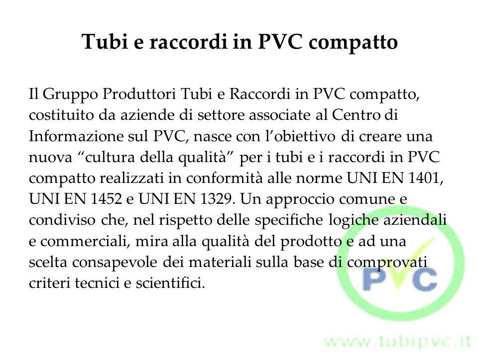 Tubi e raccordi in PVC compatto