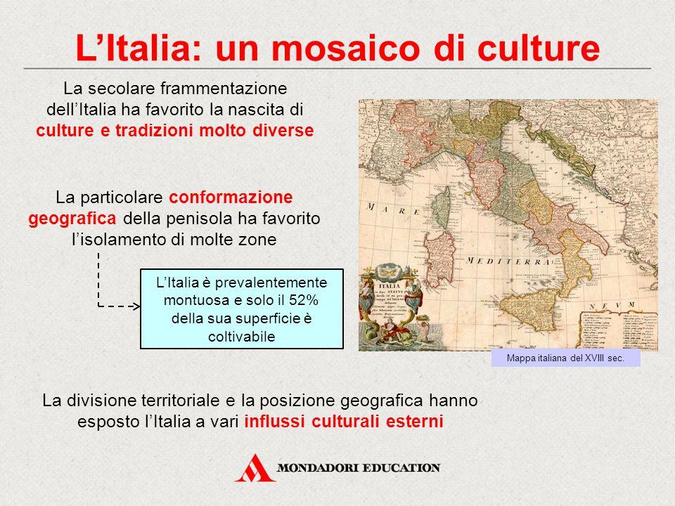 L'Italia: un mosaico di culture