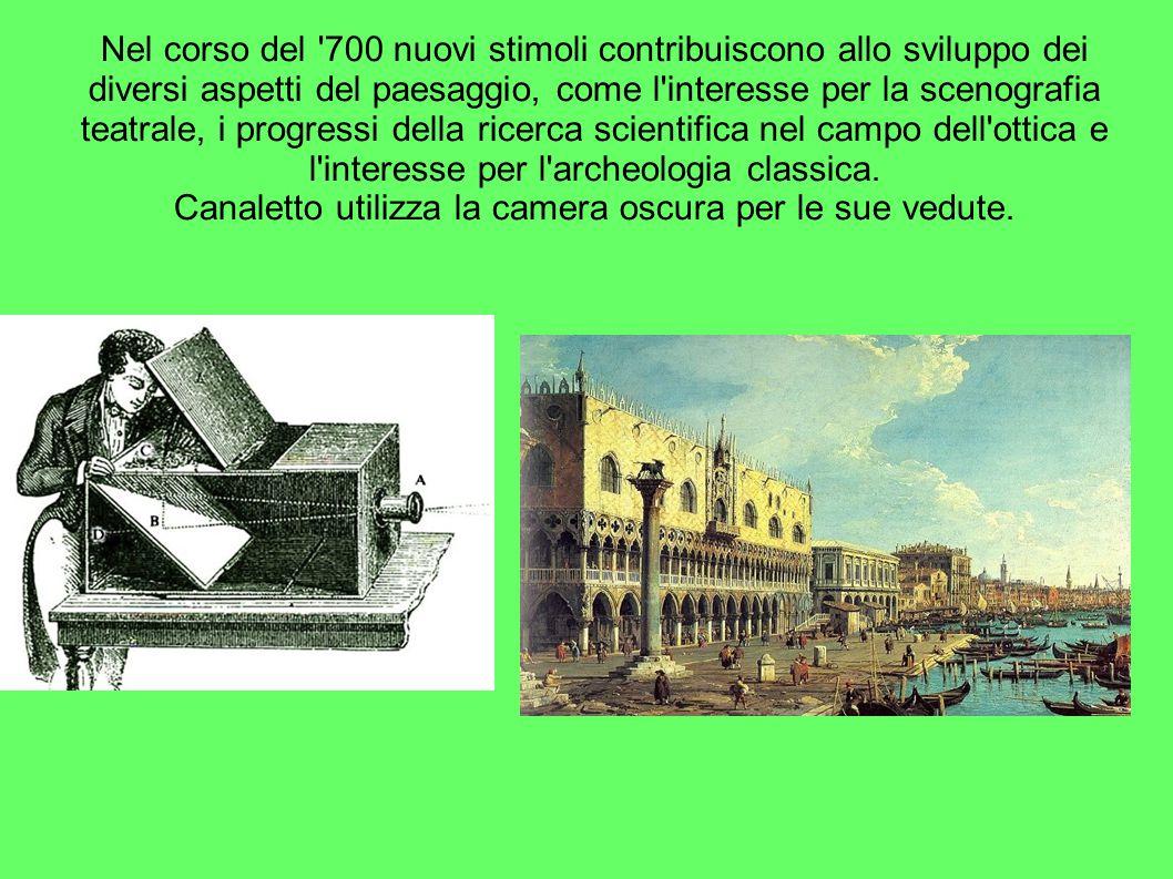 Canaletto utilizza la camera oscura per le sue vedute.