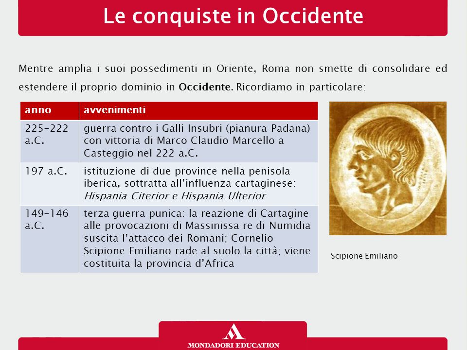 Le conquiste in Occidente