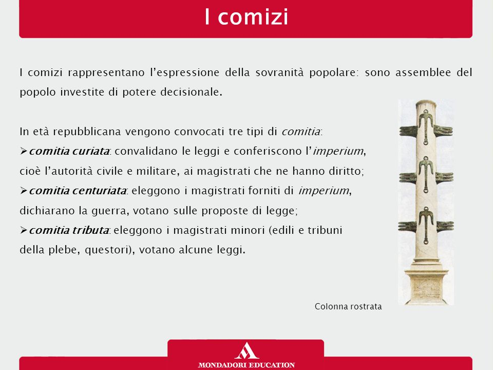 I comizi 12/01/13. I comizi rappresentano l'espressione della sovranità popolare: sono assemblee del popolo investite di potere decisionale.