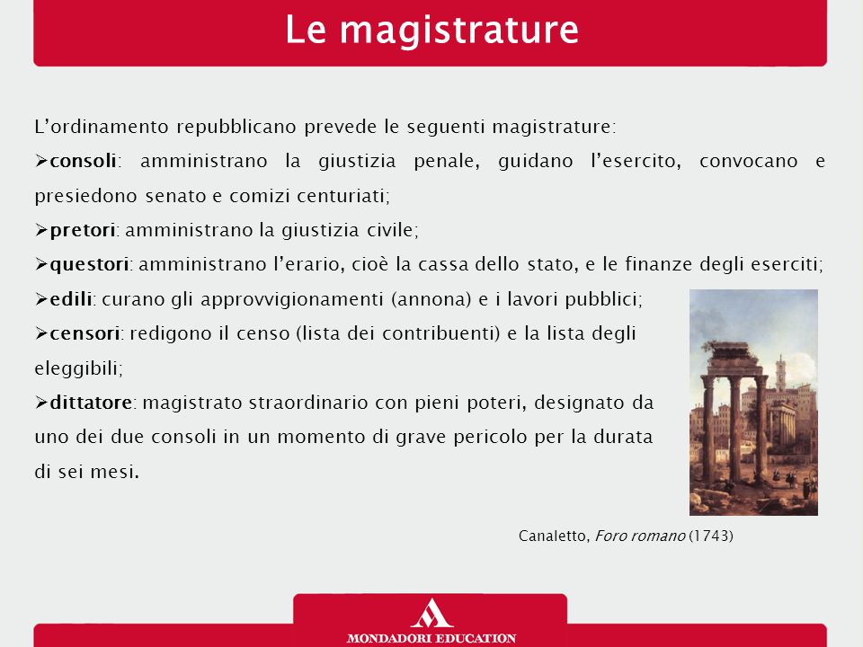 Le magistrature 12/01/13. L'ordinamento repubblicano prevede le seguenti magistrature: