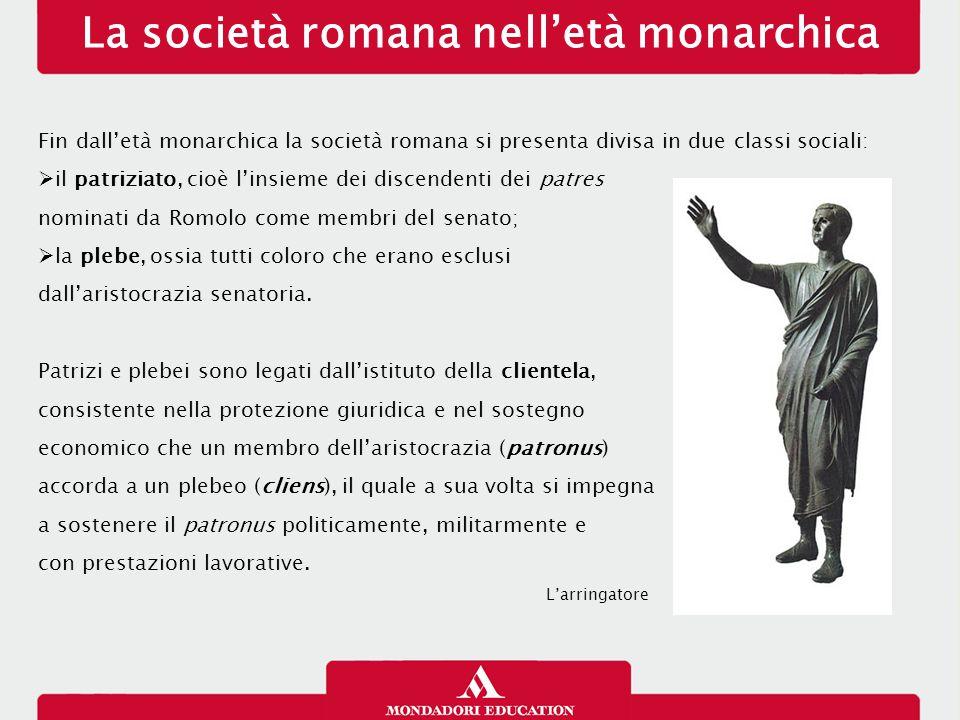 La società romana nell'età monarchica