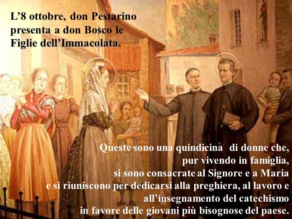 L'8 ottobre, don Pestarino presenta a don Bosco le Figlie dell'Immacolata.