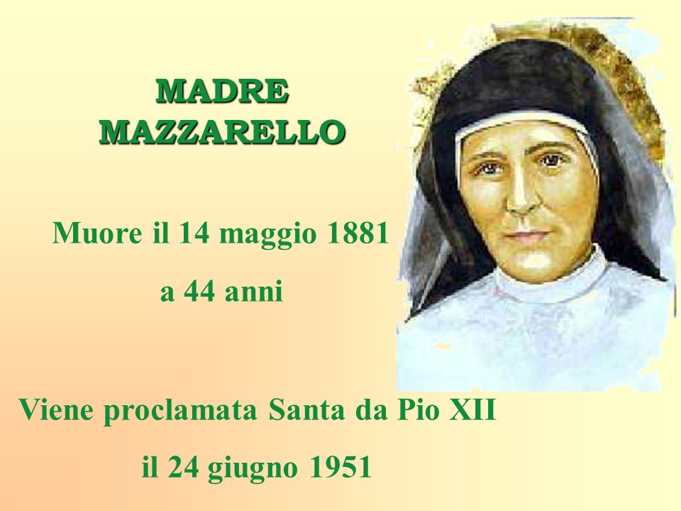 Viene proclamata Santa da Pio XII