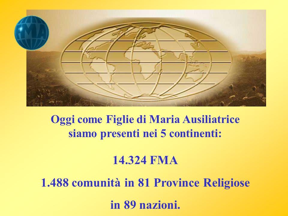 1.488 comunità in 81 Province Religiose