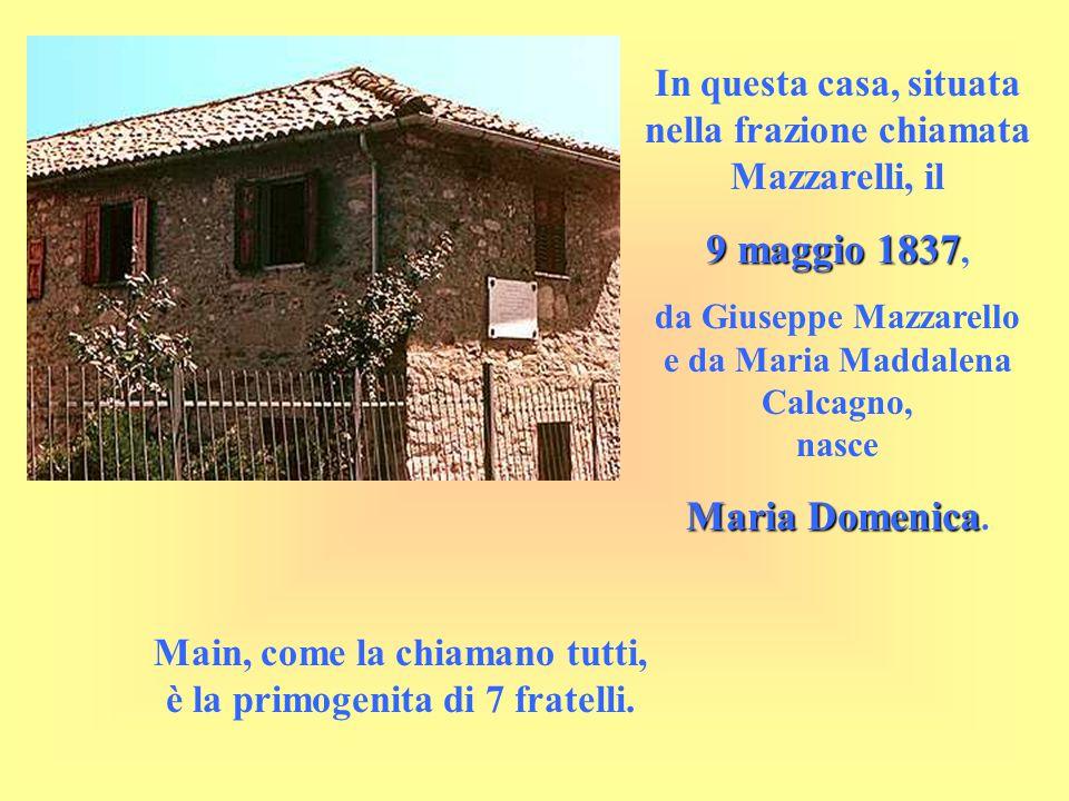 In questa casa, situata nella frazione chiamata Mazzarelli, il