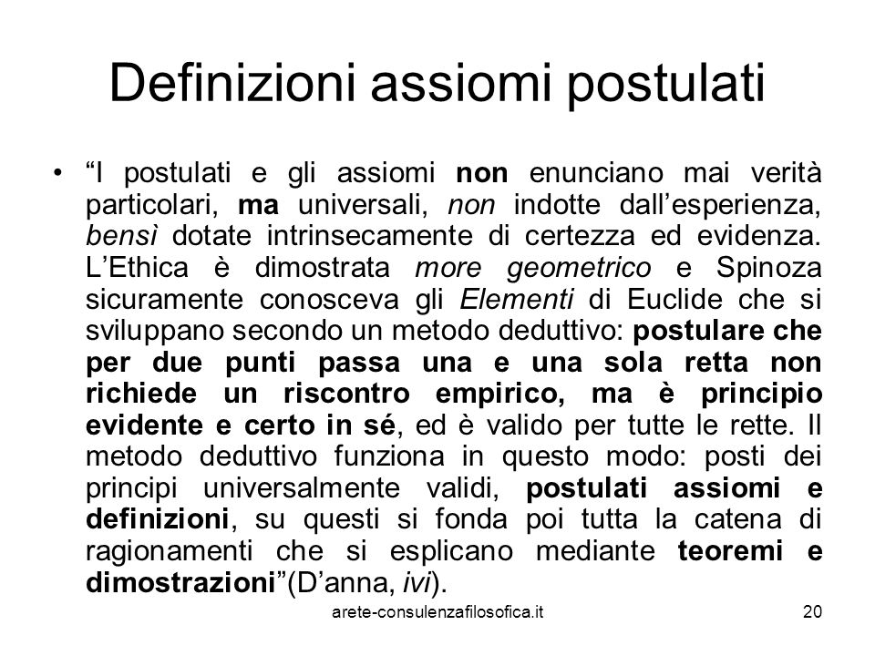 Definizioni assiomi postulati