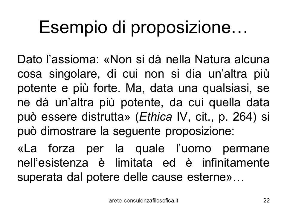 Esempio di proposizione…